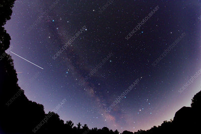 Milky Way & International Space Station