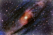 Central Core of Andromeda Galaxy