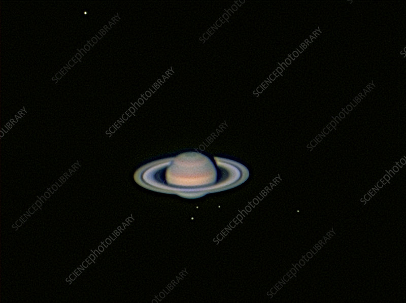 Saturn & Five Moons