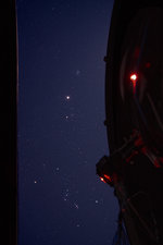 Jupiter and Star Clusters in Night Sky