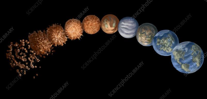Earth's Evolution, Illustration - Stock Image C029/5733 - Science ...
