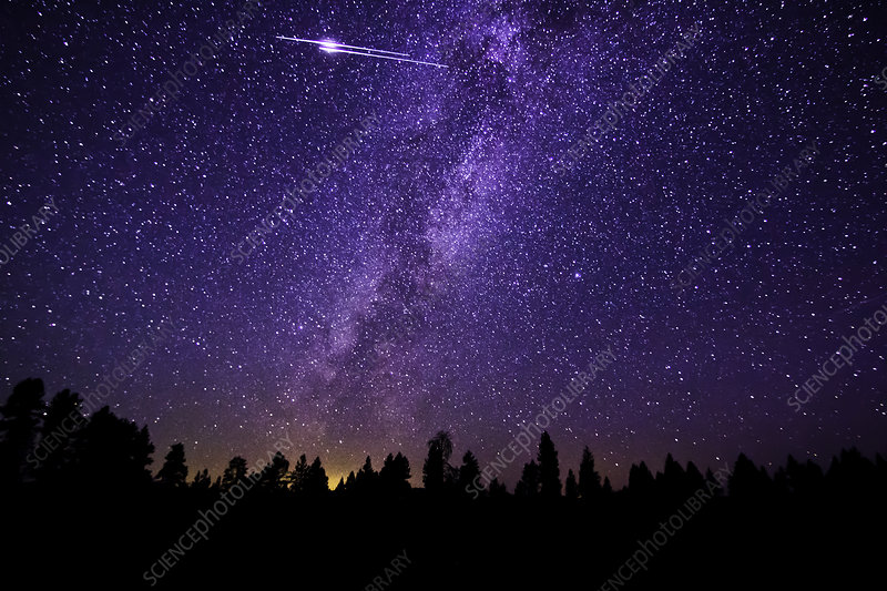Double Meteor and Milky Way