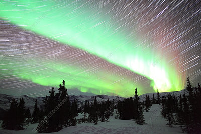 Aurora Borealis and Star Trails, Alaska