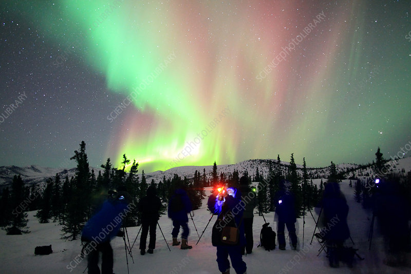 Astrophotographers and Aurora Borealis