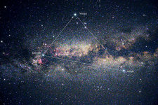 Summer Triangle in the Milky Way