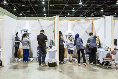 Dental x-ray booths at a free clinic