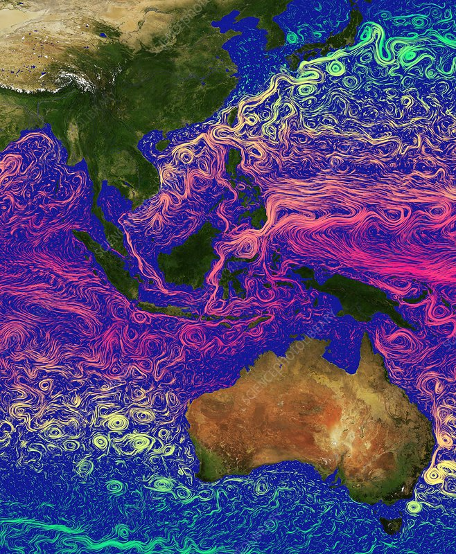 Ocean currents in the Coral Triangle