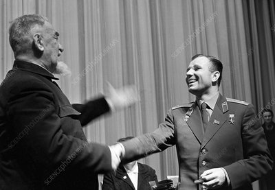 Yuri Gagarin and Boris Rossinsky, 1963