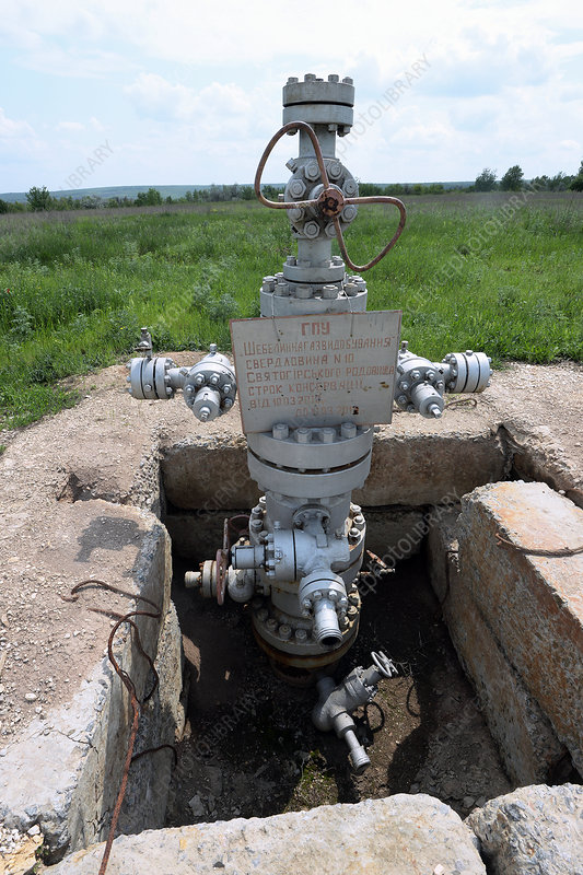 Sealed gas well, Ukraine