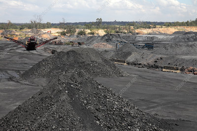 Open-cast coal mine, South Africa