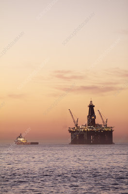 Oil rig, South Africa