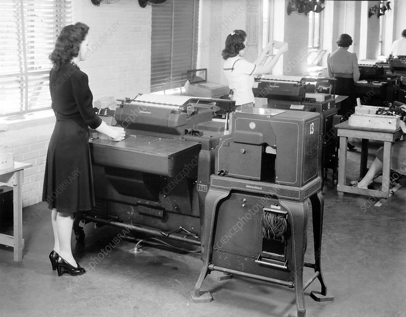 Accounting machines for 1940 US Census