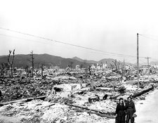 Atomic bomb destruction, Hiroshima, 1945