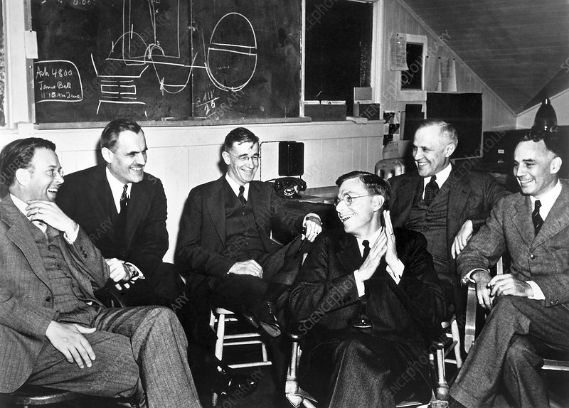 Berkeley cyclotron physicists, 1940