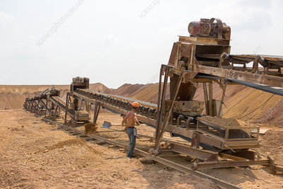 Gold ore extraction, Russia