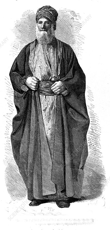 Old Babylon jew, 19th C illustration