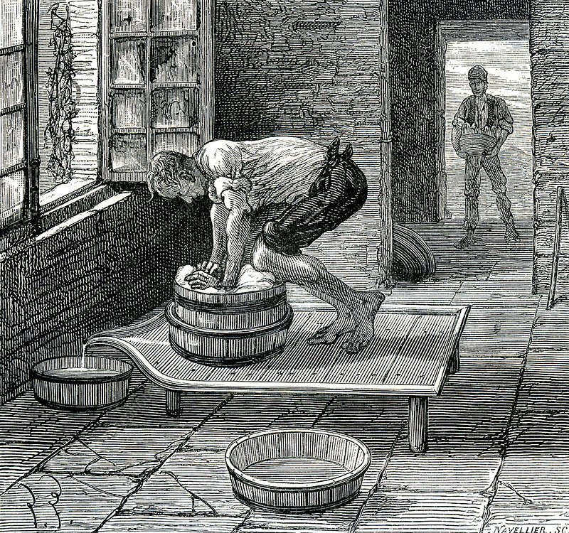 19th Century French cheesemaker