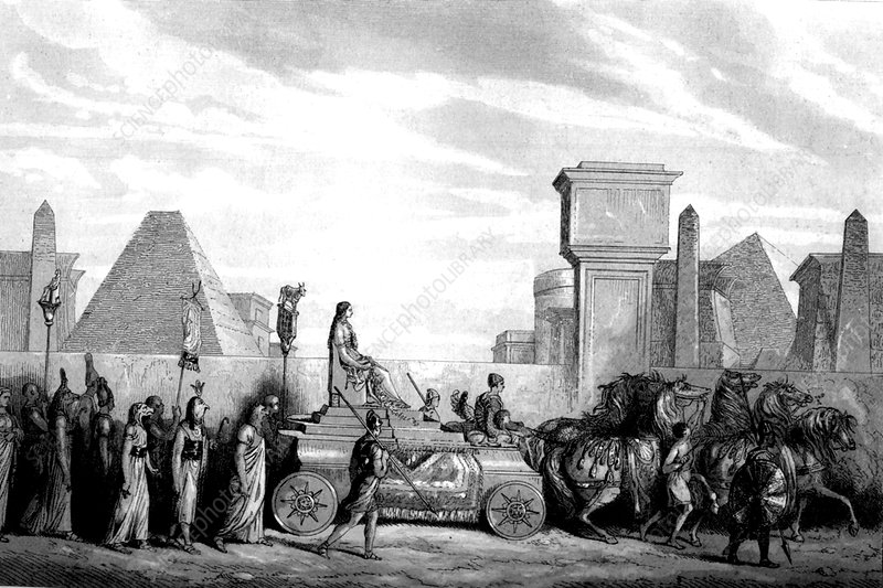 Ancient Egyptian religious ceremony