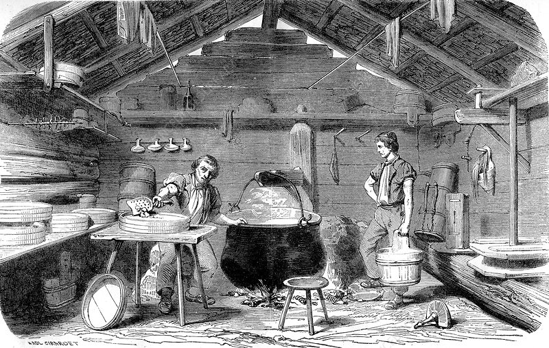 19th Century Swiss cheesemaker