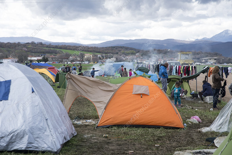 Refugee camp, Greece