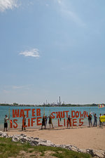 St Clair River oil line protest, USA