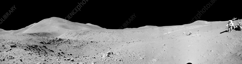 Lunar surface during Apollo 15, 1971
