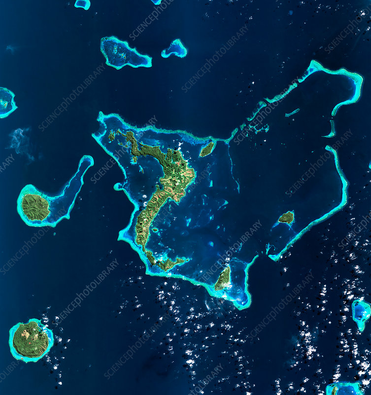 Fijian islands, satellite image