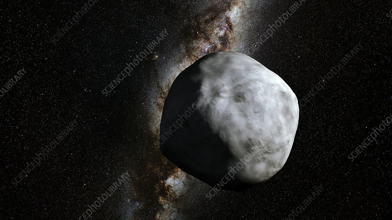 Asteroid Bennu and Milky Way