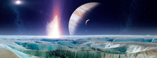 Impact on early Europa, illustration