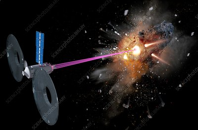 Shooting near-Earth asteroids