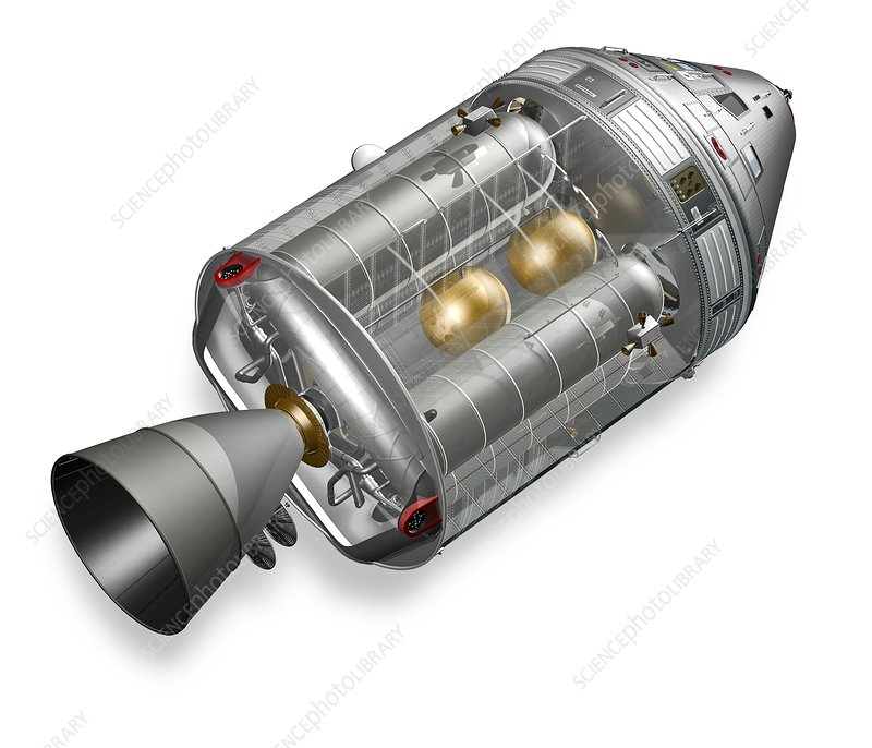 Apollo Command Service Module, artwork