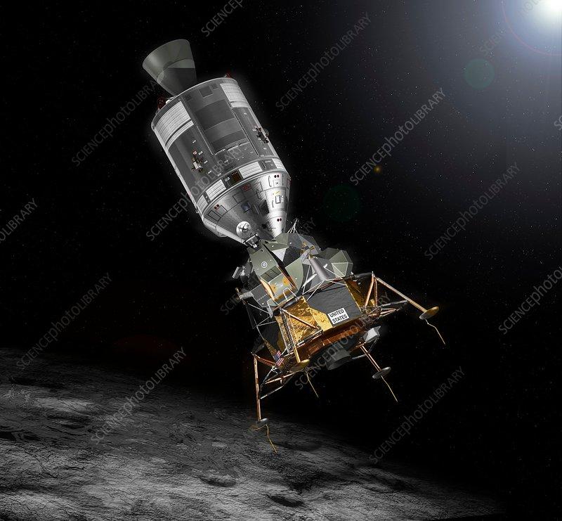 Apollo Command Service and Lunar modules - Stock Image ...