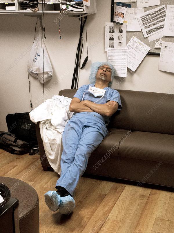 Sofa Surgeon Exhausted Sleeping Qvmd0mmk