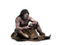 Neanderthal intellect, conceptual image