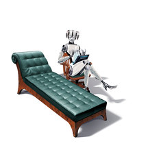 Robot psychotherapist, conceptual image