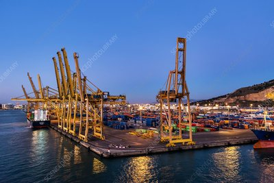 Container port, Barcelona, Spain