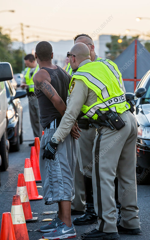 Sobriety checkpoint arrest