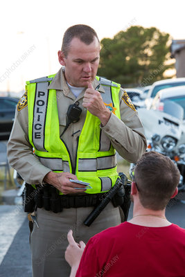 Sobriety checkpoint questioning