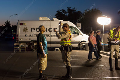 Sobriety checkpoint test