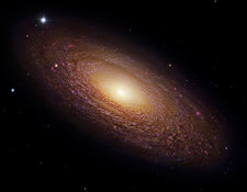 Spiral galaxy NGC 2841, composite image
