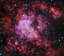 Westerlund 2 star cluster and nebulae