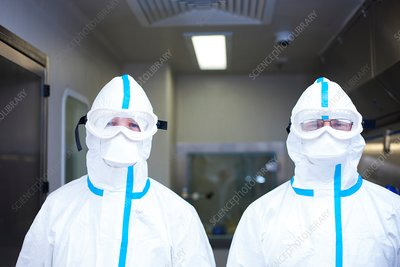 Drug manufacturing protective clothing