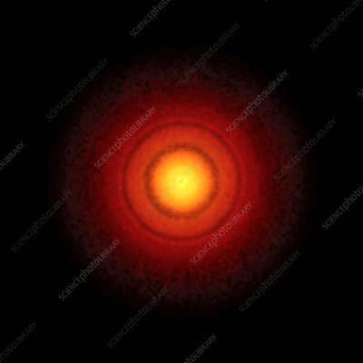 TW Hydrae protoplanetary disc, ALMA image