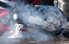 Drag racing burnout