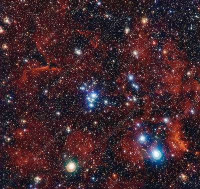 Open cluster NGC 2367, composite image