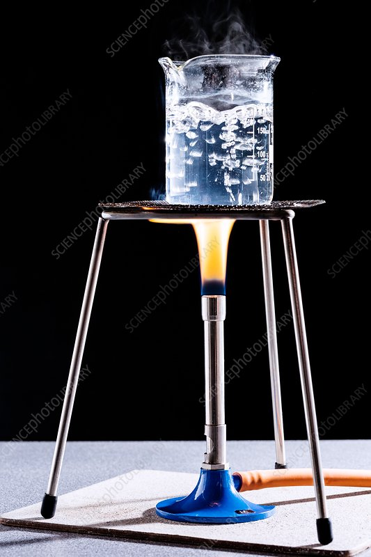 water and bunsen burner They heat a known mass of water using a bunsen burner, a hot plate, and a  microwave oven in order to determine efficiency, students must.