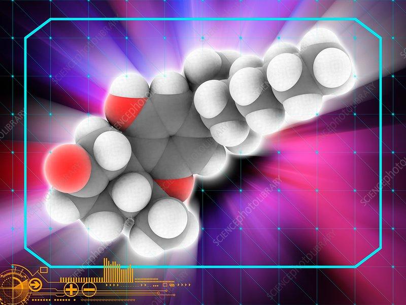 Nabilone drug molecule