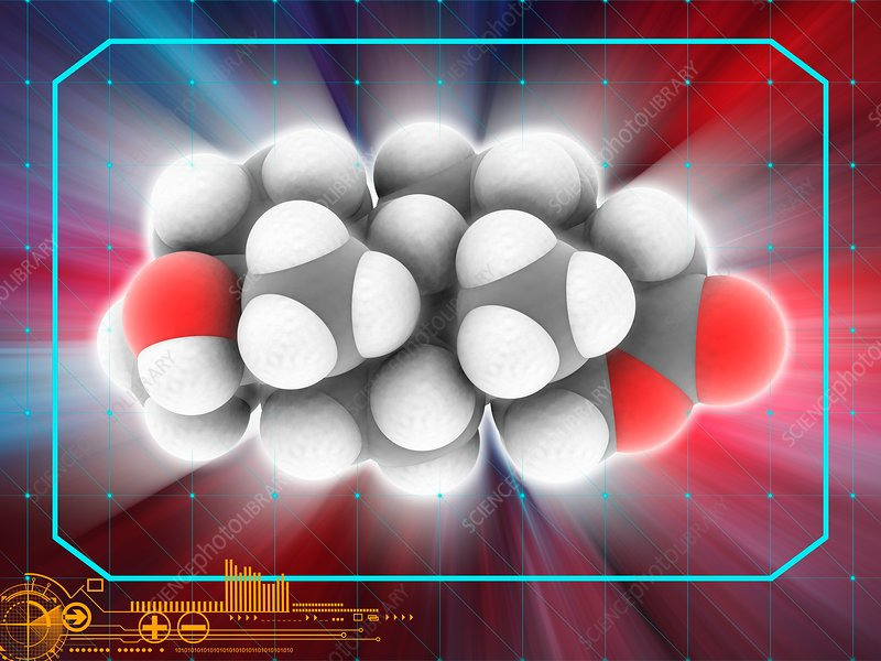 Oxandrolone drug molecule