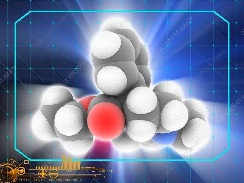 Pethidine (Meperidine) drug molecule