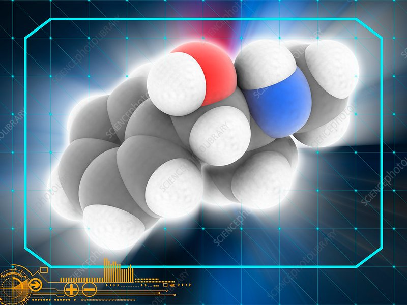 Pseudoephedrine drug molecule